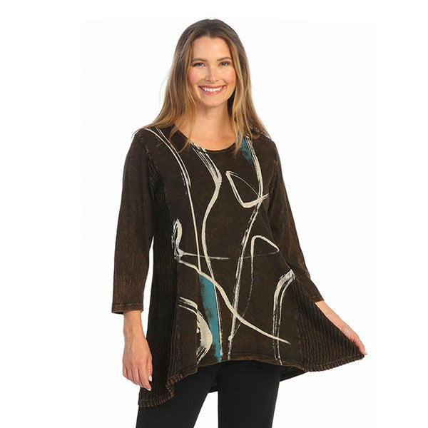 "Jess & Jane ""Willow"" Abstract Print Tunic - M55-1460"