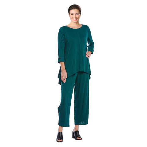 IC Collection Soft Knit Pants in Emerald Green - 3844P