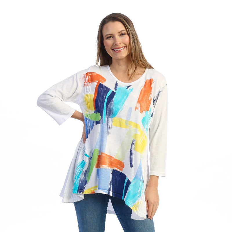 "Jess & Jane ""Palette"" Abstract Print Tunic - M55-1599"