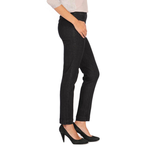 Slimsation Narrow Pant in Black Denim - M2604P-BKDM