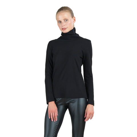 Clara Sunwoo Modal Cotton Knit Turtleneck Top - T2011MC-BK