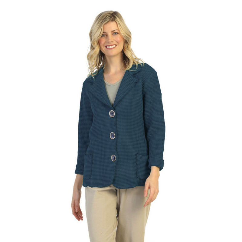 Focus Fashion Waffle Jacket in Hunter Green - SW203-GRN - Size XL Only