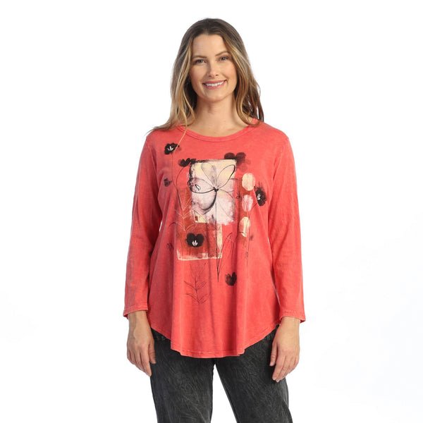 "Jess & Jane ""Love Story"" Mineral Washed Cotton Tunic Top - M28-1586"