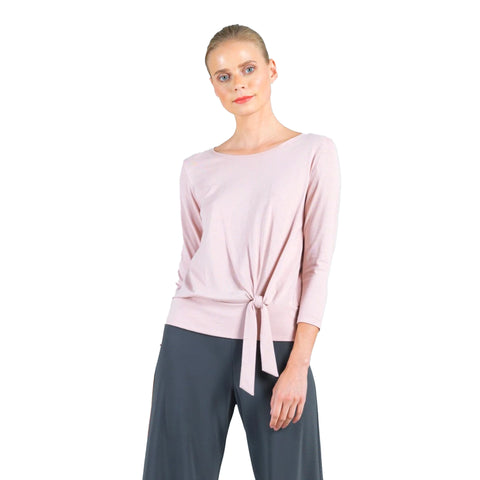 Clara Sunwoo Side Tie Modal Cotton Top in Mauve - T134MC-MV