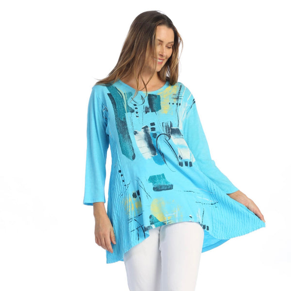 "Jess & Jane ""Dreaming"" Abstract Print Tunic - M55-1480"