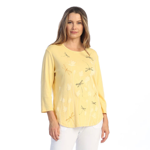 "Jess & Jane ""Fly Time"" Mineral Washed Top - M80-1587"