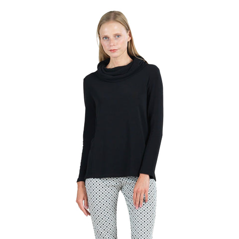Clara Sunwoo Basic Cowl Neck Sweater in Black - T97W