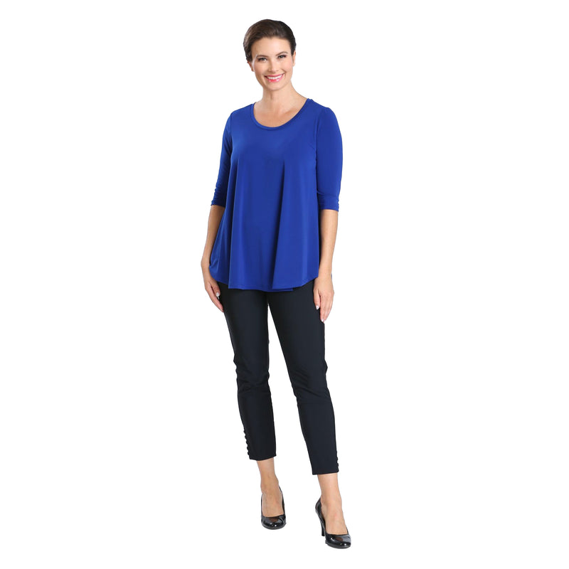 IC Collection Solid High-Low Top in Blue - 6899T-BLU