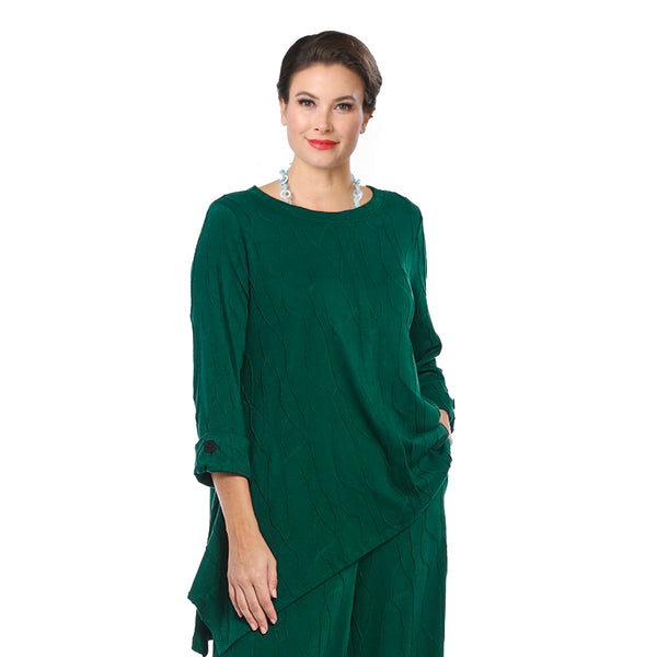 IC Collection Textured Soft Knit Tunic in Green - 3843T - Sizes S & M