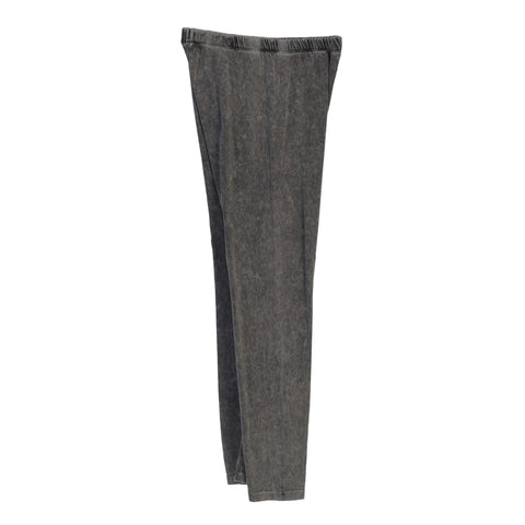 Jess & Jane Mineral Washed Cotton Legging Pants in Charcoal - M31-CHC
