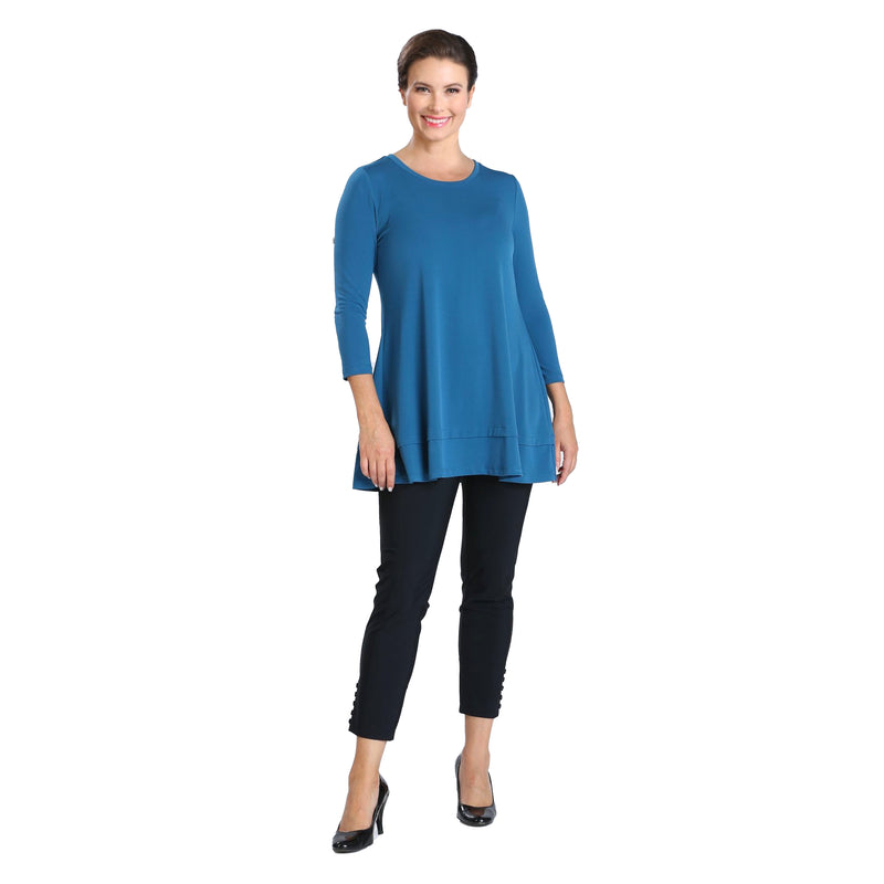 IC Collection Stretch Knit Basic Tunic in Teal - 1484-TL