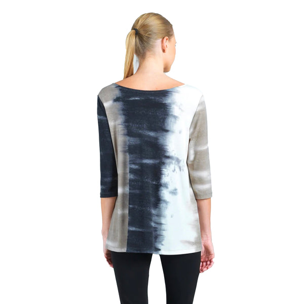 Clara Sunwoo Ombre Print Tunic in Taupe/Black - T25P7