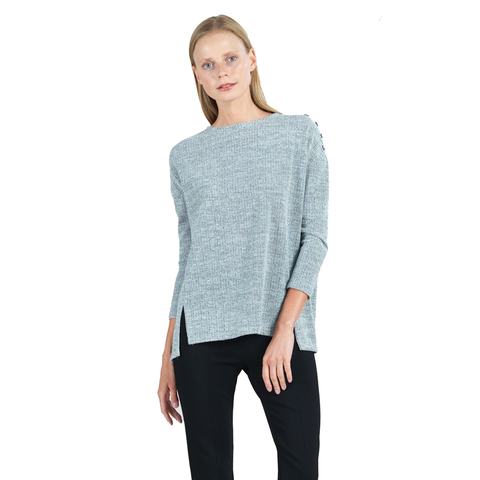 Clara Sunwoo Waffle-Knit Sweater in Grey - T195W2-OT