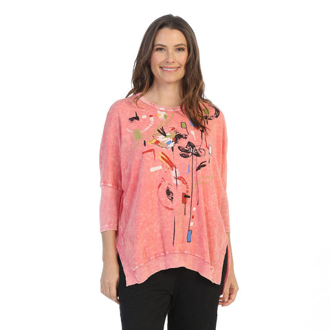 "Jess & Jane ""Chicas"" Cotton Top in Coral - M15-1502"