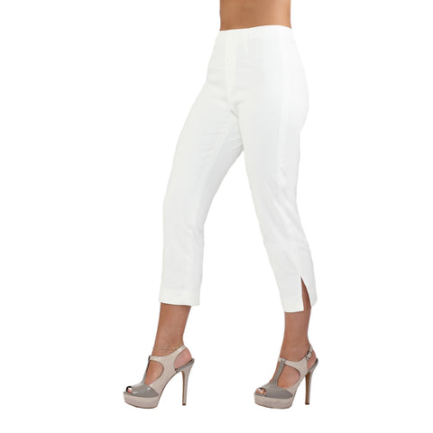 The Sidney White Denim Capri