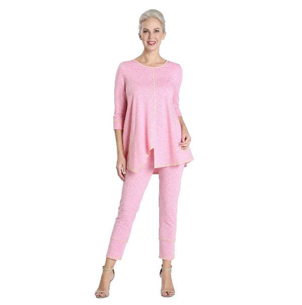 IC Collection Soft Knit Pull-On Pant in Pink - 3714P-PNK