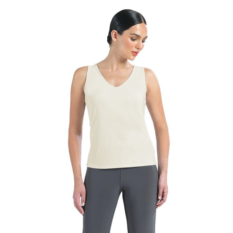 Clara Sunwoo 2 in 1 Reversible Tank Top in Ivory - TKY-IVR