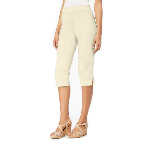 "Mesmerize ""Luke"" Pull-On Bermuda Shorts in Ivory  BRM-IV - Size 8 Only"