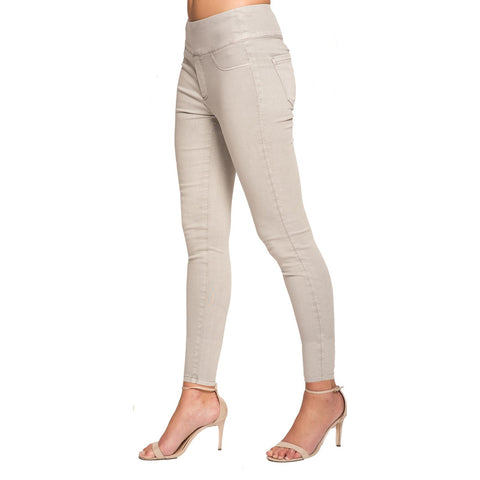 "Lior Paris ""Jane"" - Skinny Leg Jeans with Back Pockets in Taupe - JANE-TPE"
