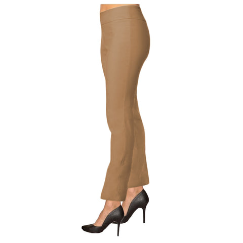 "Lior Paris ""Janet"" 28"" Tummy Control Straight Leg Pant in Camel"
