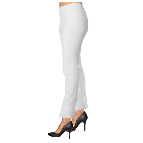"Lior Paris ""Janet"" 28"" Tummy Control Straight Leg Pant in White"