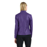 Clara Sunwoo Faux Liquid Leather Zip Jacket in Purple - JK161-PPL