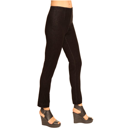 "Lior Paris ""Sasha"" 28"" Straight Leg Pant in Black Denim"