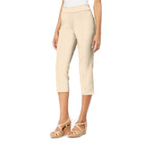 "Mesmerize ""Mason"" Pull-On Capri in Light Khaki - MASON-LK - Size 2 & 8 Only"
