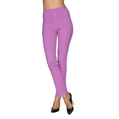 Mesmerize Pants with Front Ankle Slits and Front Zipper in Lilac - MA21-LIL