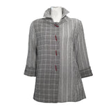 Moonlight Check & Stripe Shirt in Grey/Multi - 2417-NP - Size XXL Only