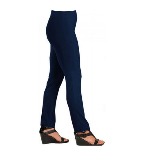 "Lior Paris ""Lize"" Straight Leg Pull-On Pant in Navy - LIZE-NVY"