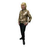 IC Collection Asymmetric Jacket in Metallic Gold/Black - 9951J-GLD - Sizes S & M Only