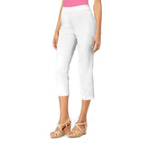 "Mesmerize ""Mason"" Capri with Back Slits in White - MASON-WHT"