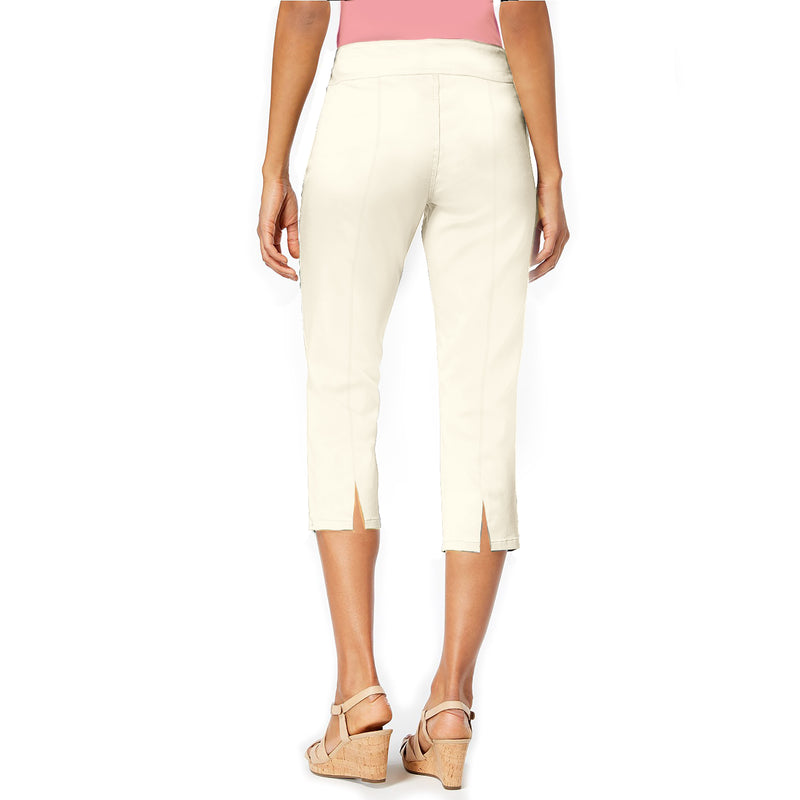 "Mesmerize ""Mason"" Capri with Back Slits in Ivory - MASON-IVR - Sizes 2 & 4"