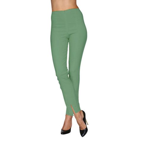 Mesmerize Pants with Front Ankle Slits and Front Zipper in Mint - MA21-MT