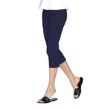 "Mesmerize ""Nova"" Zip Front Capri's in Navy - NOVA-NVY - Sizes 4 & 6"