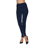 Mesmerize Pants with Front Ankle Slits and Front Zipper in Navy - MA21-NVY