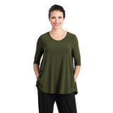 IC Collection Solid High-Low Top in Olive - 6899T-OLV