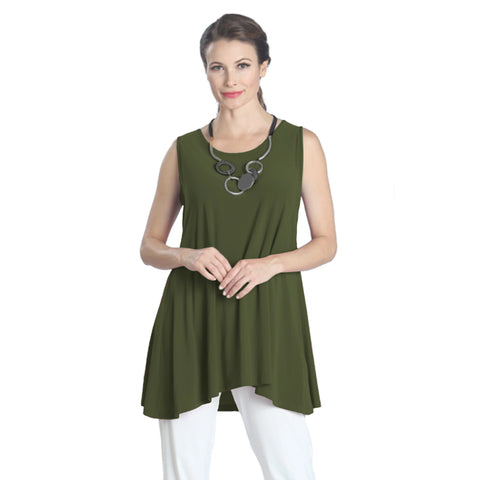 IC Collection Extender Length Tank in Olive - 6822T-OLV