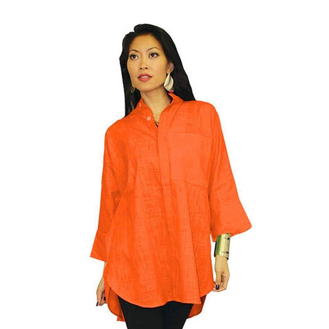 Dilemma Oversize Shirt in Orange - GB-5026-ORG