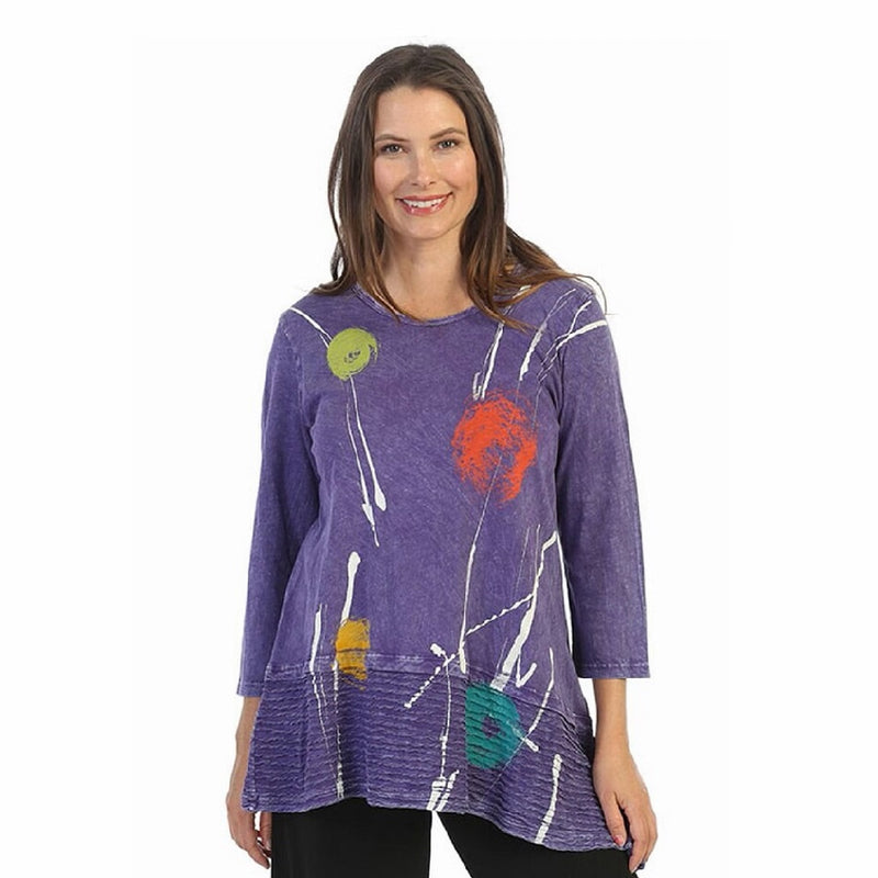 "Jess & Jane ""Orbs"" Abstract Print Mineral Washed Tunic - M54-1532"