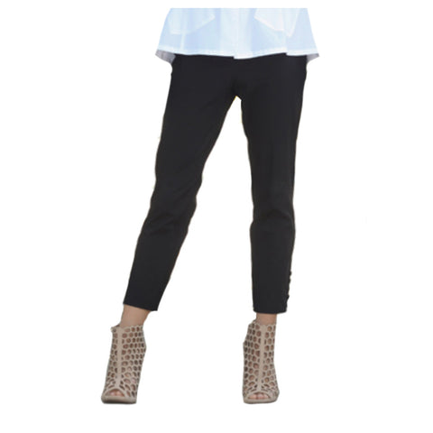 IC Collection Pull On Crop Pant in Black - 6266P