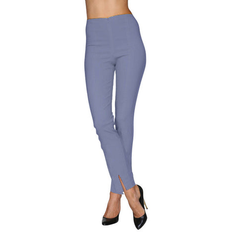 Mesmerize Pants with Front Ankle Slits and Front Zipper in Periwinkle - MA21-PER