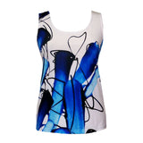"Valentina Signa ""Brushstrokes"" Twin Set in Blue/White/Black - 19048-2-TSWT"