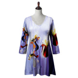 "Valentina Signa ""Purple Dream"" Abstract Floral Print Tunic - 20211TU"