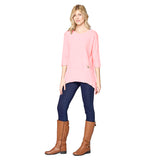 Focus Ribbed Pocket Tunic in Pink - CS-303-PNK