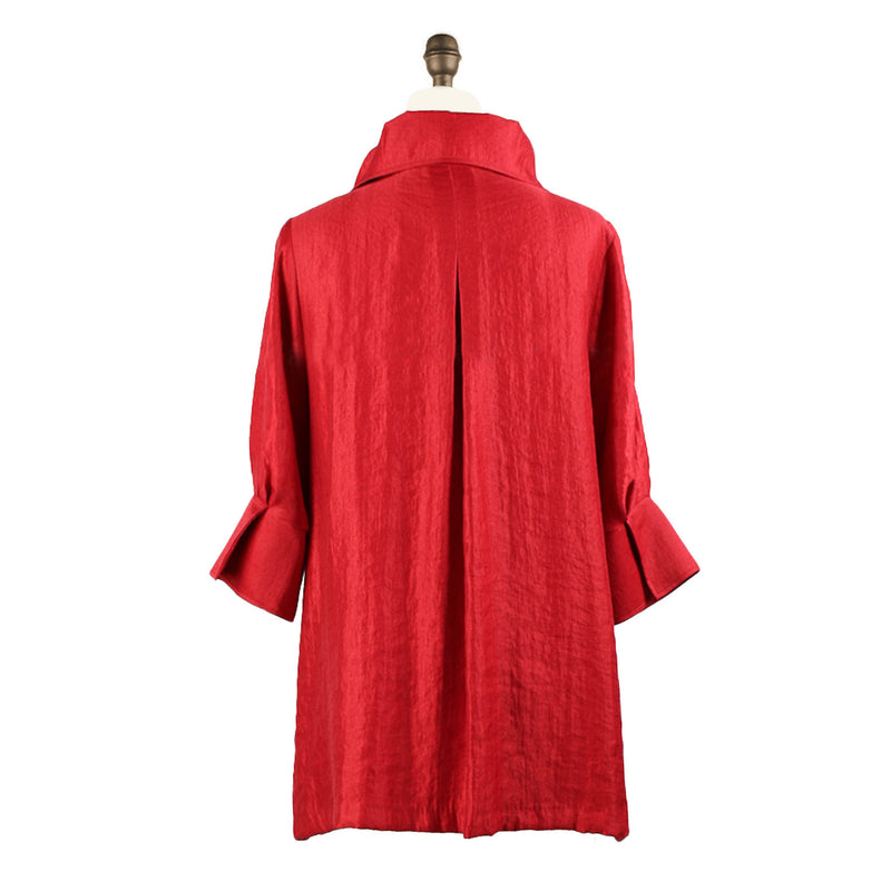 Damee NY Solid Signature Swing Jacket in Red - 200 -RD Best Seller ♥ All Colors!