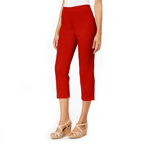 "Mesmerize ""Mason"" Pull-On Capri with Back Slit in Red - MASON-RD - Sizes 2 - 6 Only"