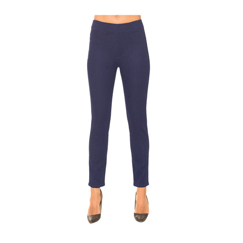 "Lior Paris ""Sage"" Straight Leg Pant in Dark Blue Denim"