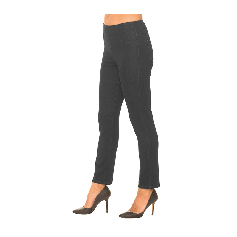 "Lior Paris ""Sage"" Tapered Pant w/Back Pockets ♥ Black Denim - SAGE-BKD size 10 only"